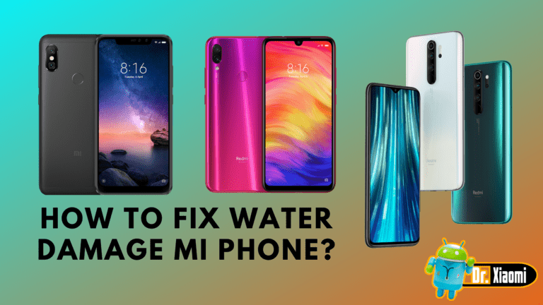 How To Fix Water Damage Mi Phone?