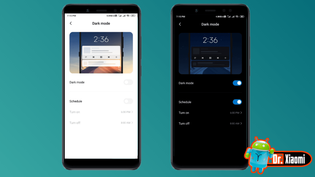 enable dark mode on miui 11 - 2