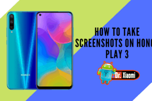 How to take screenshots on Honor Play 3