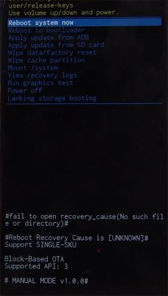 Samsung Galaxy M10 Recovery Mode Warning Screen