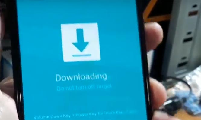 Samsung J4 Plus Warning screen