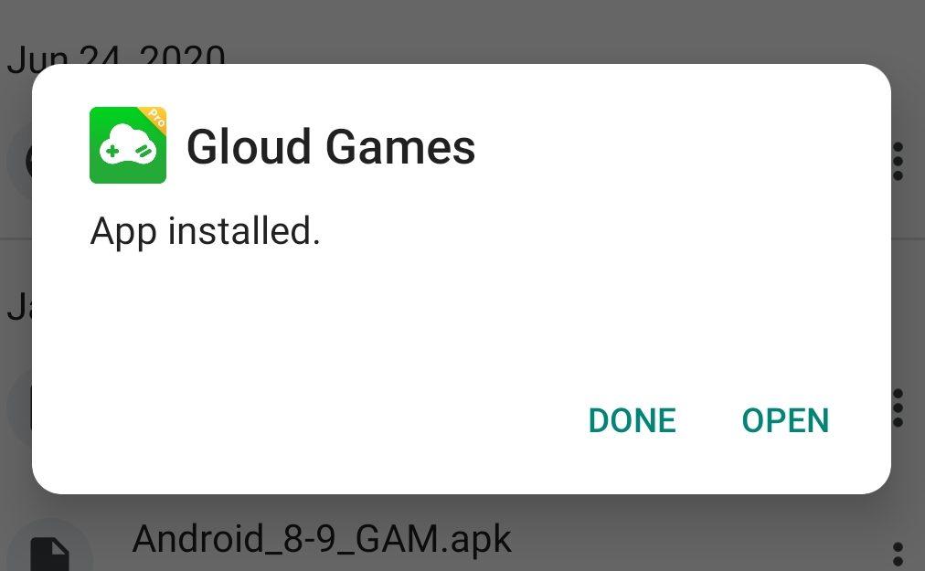 Gloud Games Installed