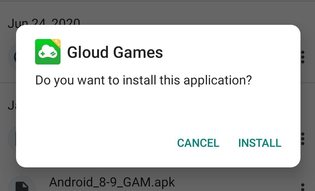 Gloud Games Install