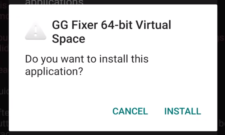3. Now, Install GG Fixer