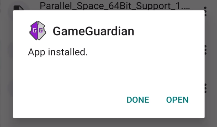 3. Open Game Guardian APP