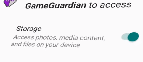 4. Give Permission to Access Game Guardian APP