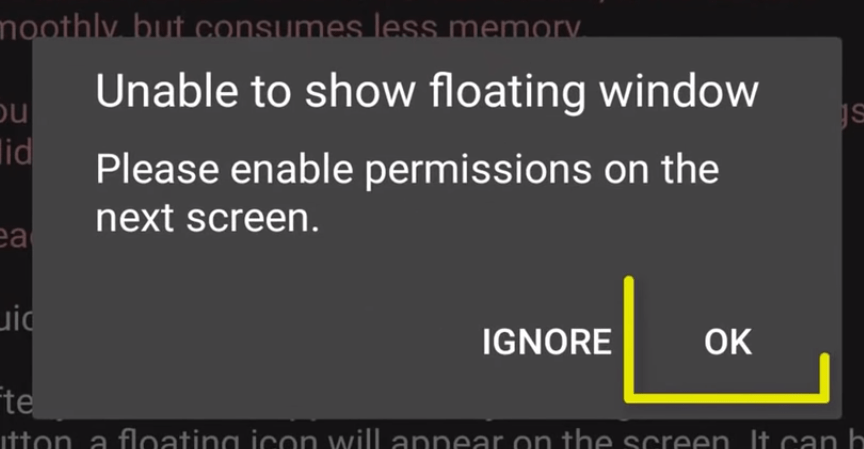 5. We need to enable Flowting window