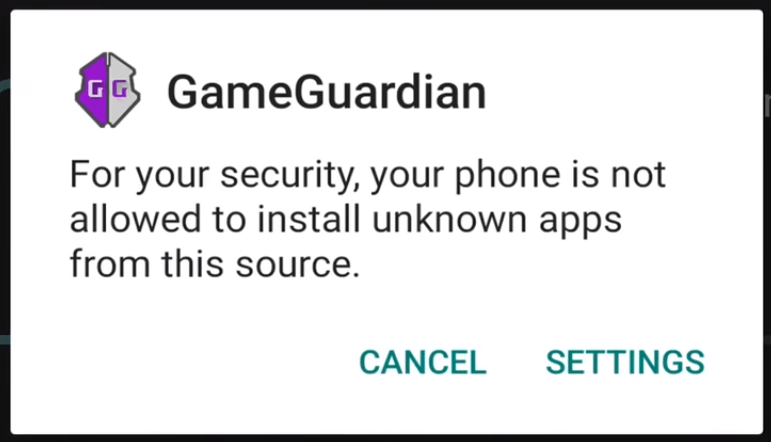 7. Give permission to install other Game Guardian APP