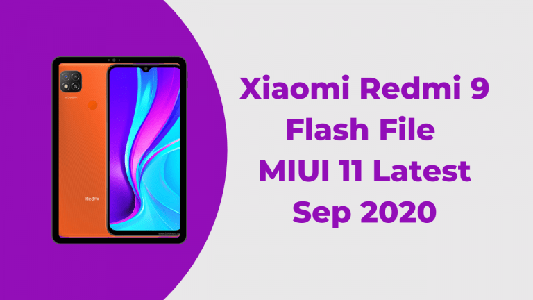 Xiaomi Redmi 9 Flash File MIUI 11 Latest | Sep 2020