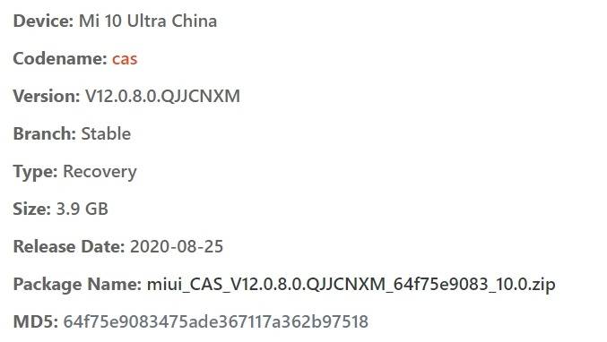mi 10 ultra flash file
