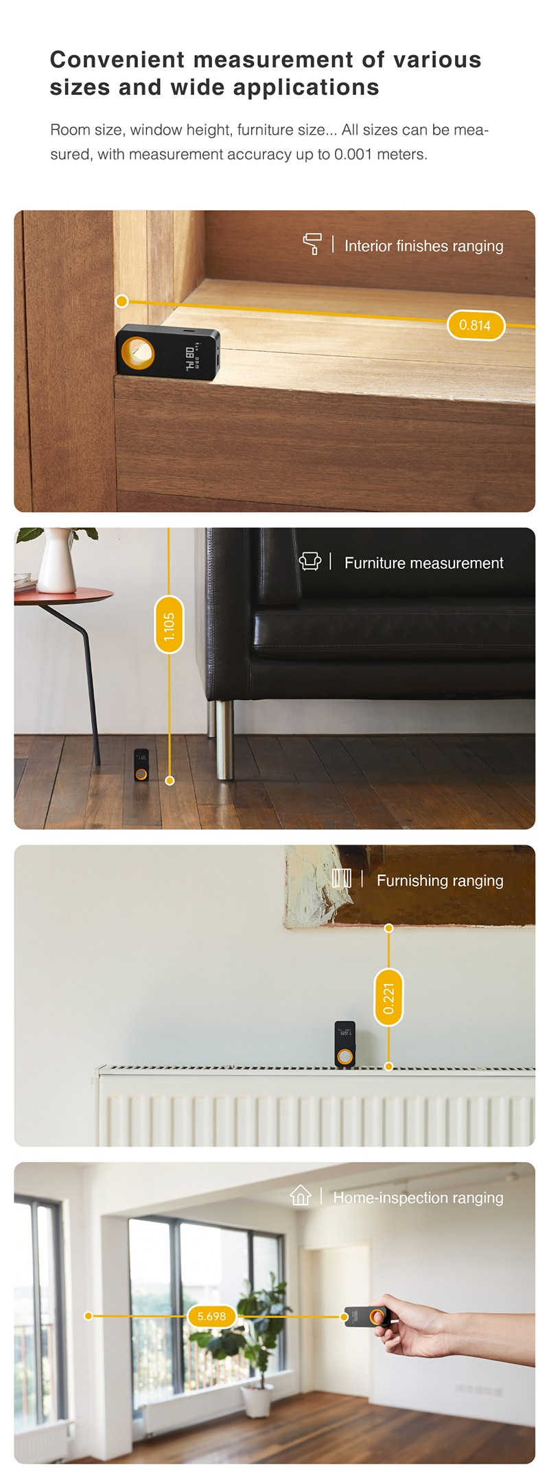 Hoto Xiaomi laser meter