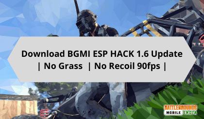 Download BGMI ESP HACK 1.6 Update | No Grass No Recoil 90fps |